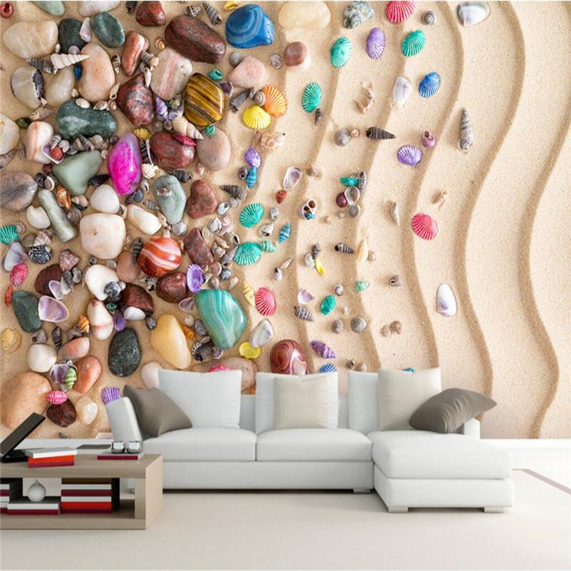 Coquilles naturelles literie promotion achetez des for Collant mural