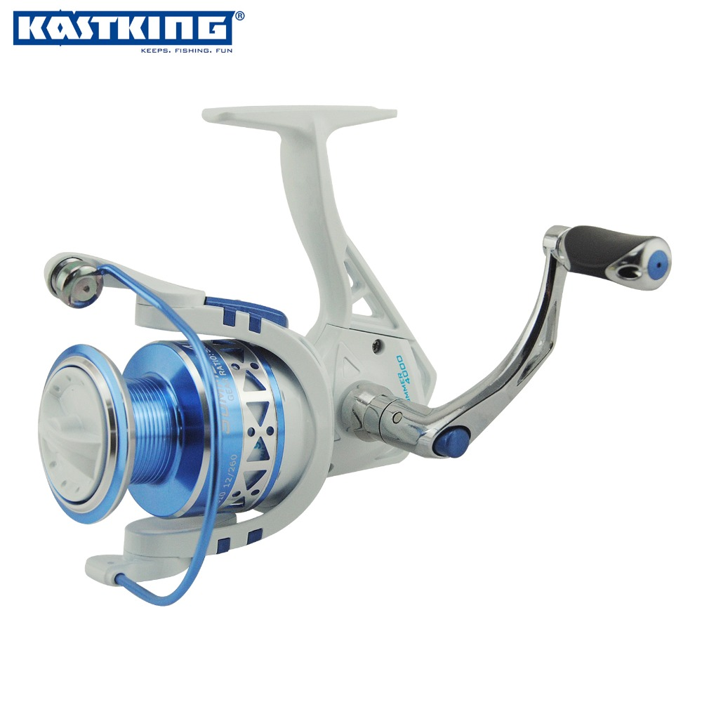 KastKing Superior Ratio 5.2:1 Aluminum Spool Spinning Reel 10BB 2000 Series Folding Arm Baitrunner Carp Spinning Reel Fishing