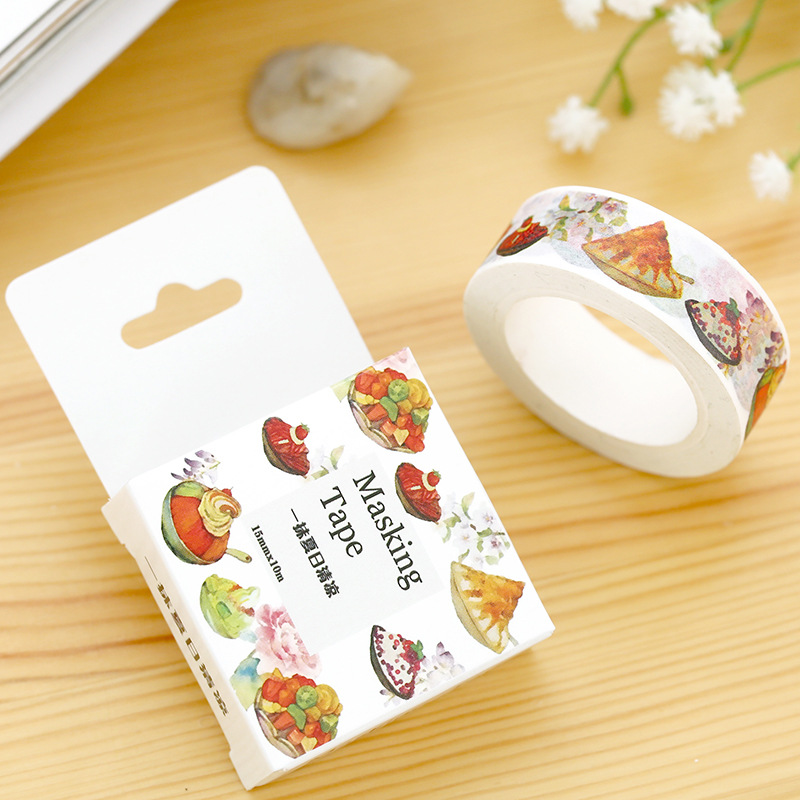 1 Pc / Pack Size 15 Mm*10m Diy Touch Of Cool Summer Washi Tapes / Masking Tape / Decorative Adhesive Tapes / School Supplies<br><br>Aliexpress