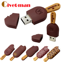 New Style Magnum Ice Cream USB Memory Stick 4GB 8GB 16GB 32GB 64GB Flash Drive Pen Drive USB 2.0 Flash Disk Gifts Free shipping(China (Mainland))