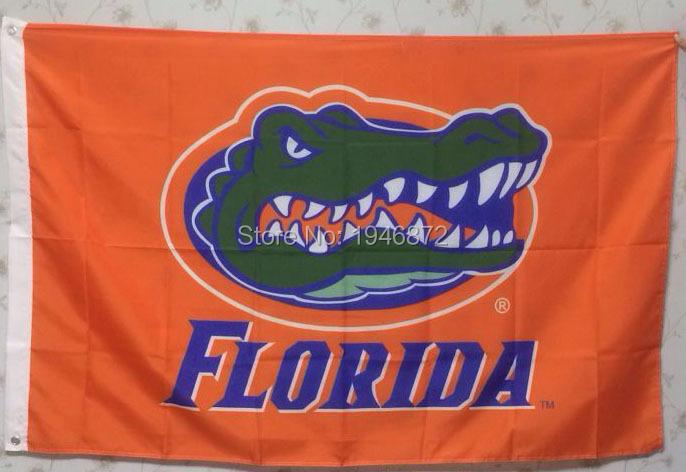 Florida Gators Logo Orange Flag 3x5 Custom College Flag(China (Mainland))