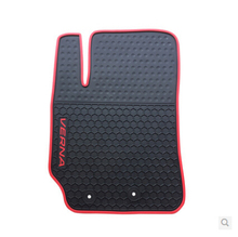 Automobile(3/p) Rubber Floor Mats Water proof rubber foot pad automobile Environmental protectionwear for HYUNDAI Verna(China (Mainland))
