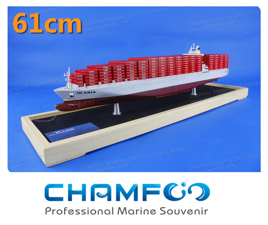 Diecast Metal Container Ship Model Cargo Ship Ship Model Customized Marine Souvenir Shipping Gift Office Decoration K-Line(China (Mainland))