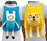 jake and finn adventure time school bag girl boy children special purpose kid cartoon baby plush backpack back pack schoolbag