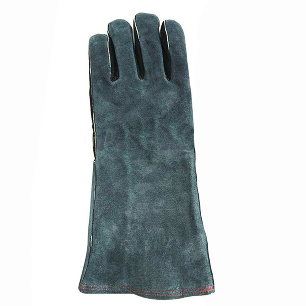 Leather work gloves china - High Quality 1 Pair Gloves Insulated Grip Cowhide Leather Work Gloves Reusable Safety Gardening Gloves