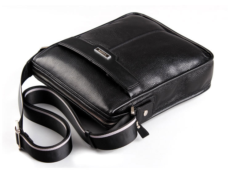 P.KUONE new casual cowhide Genuine leather men messenger bag, man  fashion shoulder bag, for ipad