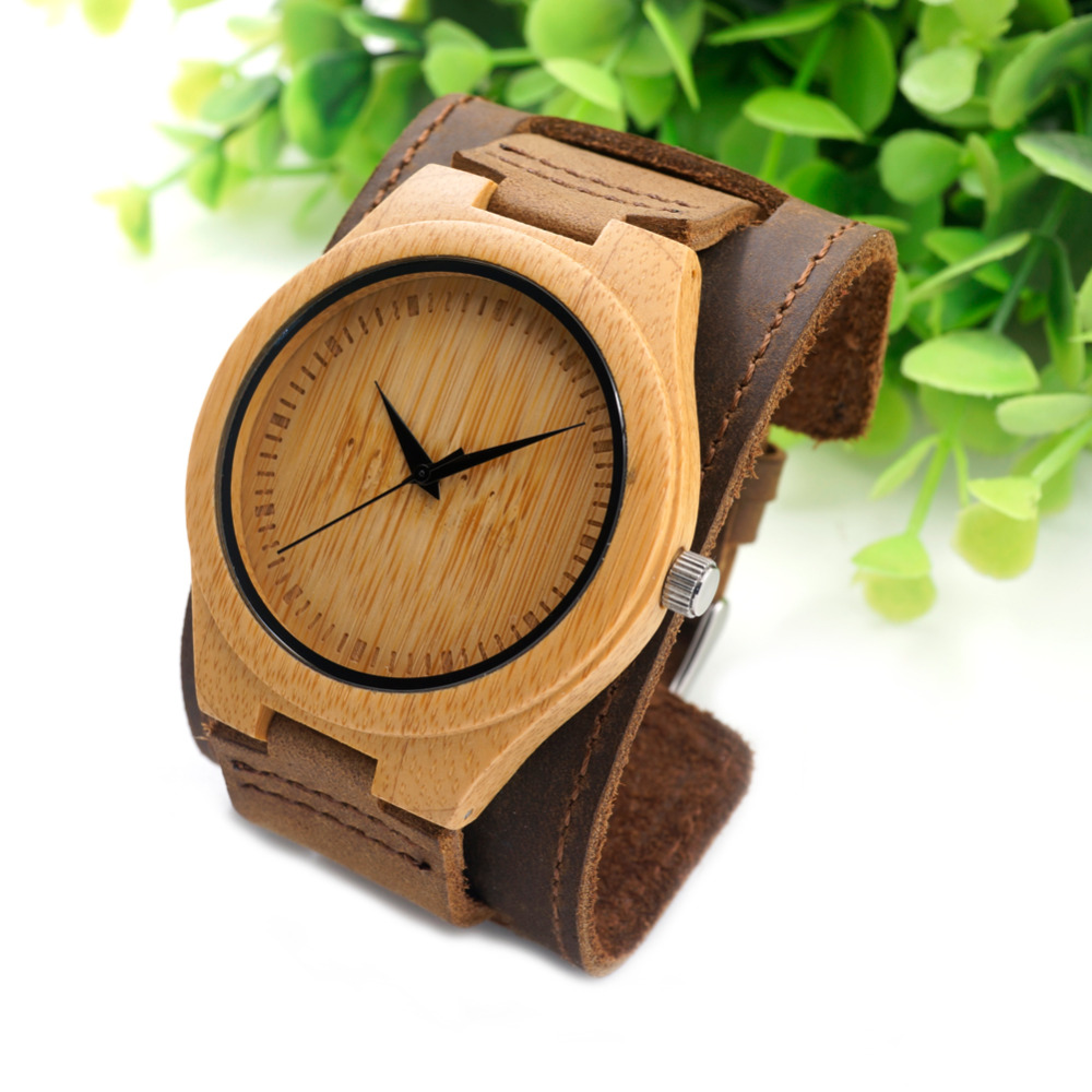 Z0188 Bobobird Mens Top Brand Bamboo Wood  Watches Chicago Bracelets Genuine Leather  Bands Straps With Gift Box Drop Shipping<br><br>Aliexpress