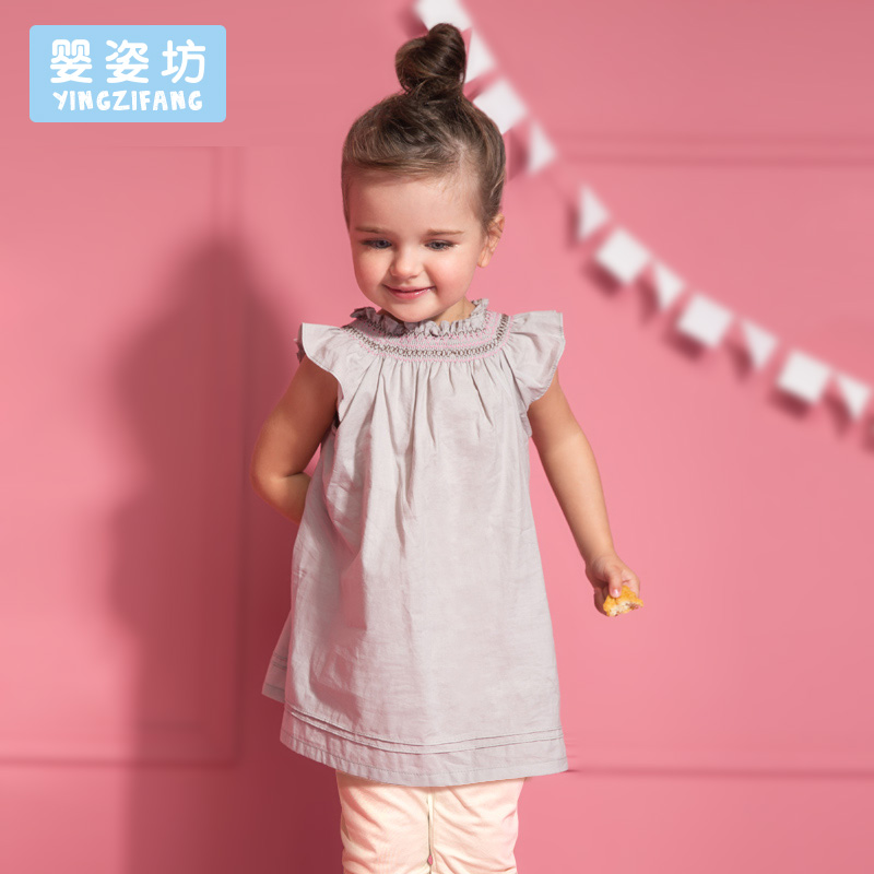 2016 New Summer Baby Girls Dress Suits 2 pcs Fashion Casual Lotus Leaf Collar Clothing Dresses Sets Bow Tops Suit Dresses(China (Mainland))