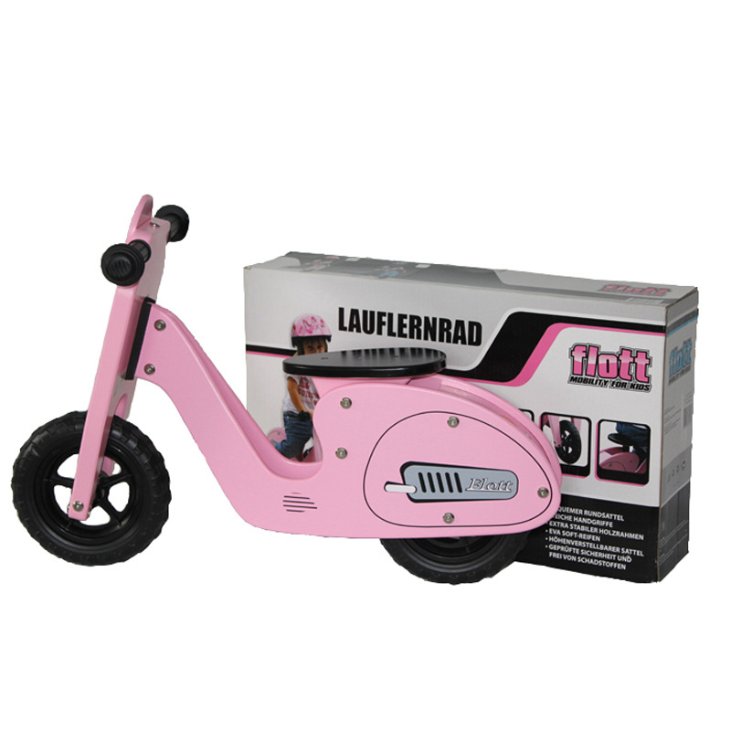 Ride On Toys For Teenagers : Pink wooden toy for kids ride on child walk motorcycle