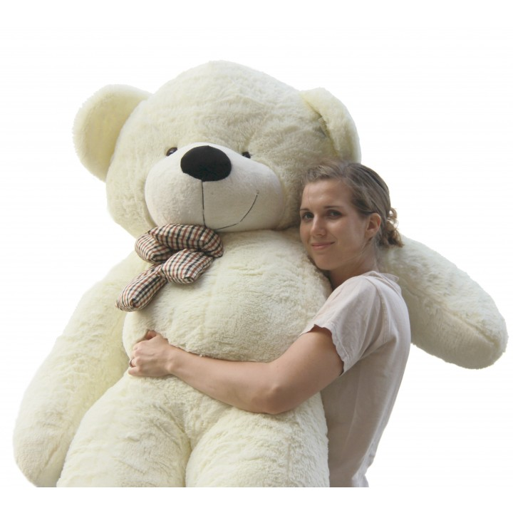 Joyfay 78'' 200 cm White Giant Teddy Bear 2m Huge Stuffed Plush Animals Big Soft Toy Gift for Birthday Valentine Anniversary(China (Mainland))