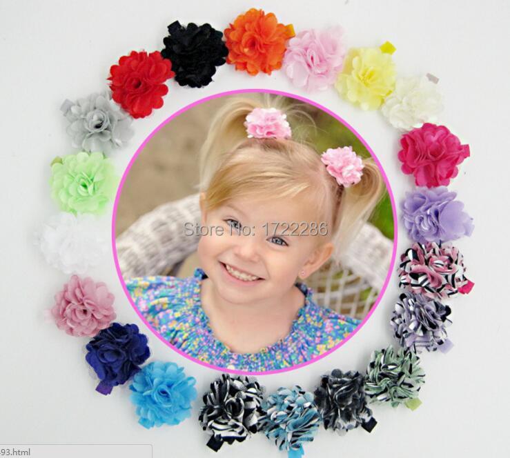 2016 Net yarn Flower Hairpins children hair Accessories girls hair barrettes Children head flower cloth folder Baby Hair clip(China (Mainland))