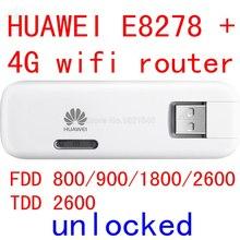 Unlocked Huawei E8278 E8278S-602 4G lte modem + wifi router 150Mbps lte 4g USB Wifi Modem 4g wifi Dongle pk E3276 E398 E392(China (Mainland))