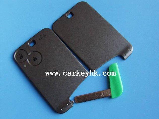High quality  Laguna 2 button smart key case with blade no logo,key card renault