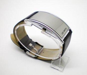 Free Shipping Wholesale Leather Fashion Sports Watch men women wrist watch Digital LED watch K5-2901