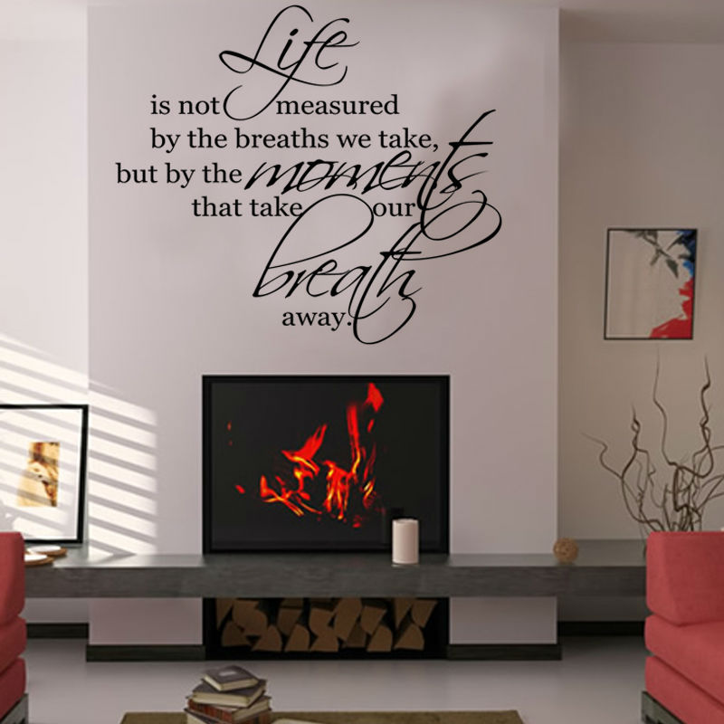 Saying life is not measured art vinyl decal wall sticker for Living room quote stickers