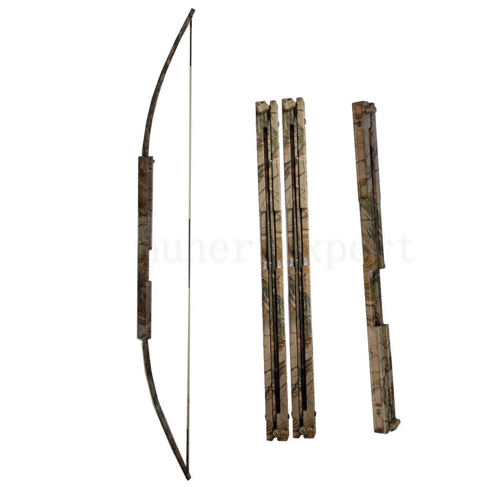 Hunter hunting bow and arrow archery sporting camo metal bow riser 50lbs take down recurve bow