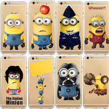 TPU Silicon Cover Despicable Me Yellow Minion Case For Apple iPhone 5C 5S/6 6S 6S Plus Soft Clear Phone Cases Shell