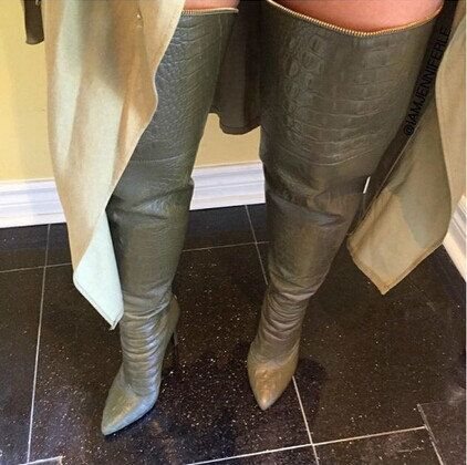 Womens Black Leather Thigh High Boots - Boot Hto