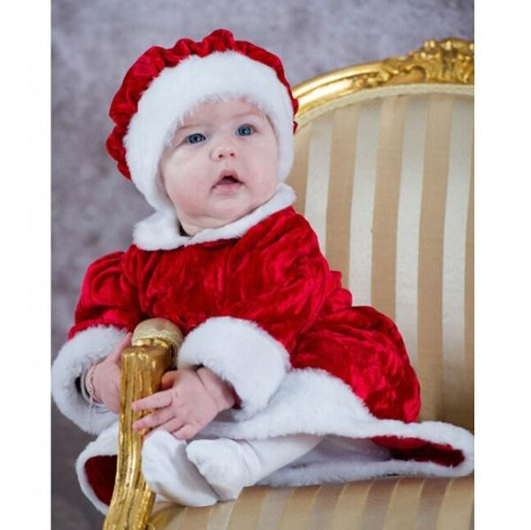 baby girls xmas dress children christmas pure color plush dresses with a hat flower girl princess dress kids clothing JL-1603(China (Mainland))