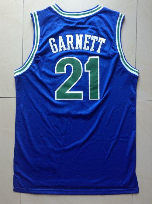 cheap Kevin Garnett Jersey,#21 Kevin Garnett White Blue Black Throwback Vintage Retro Basketball Jerseys,Embroidery Logos(China (Mainland))