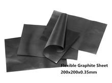 200 x 200 x 0.35 мм гибкий графит бумаги 10 шт. для между стб C и теплоотвода или оболочки, графитовый лист
