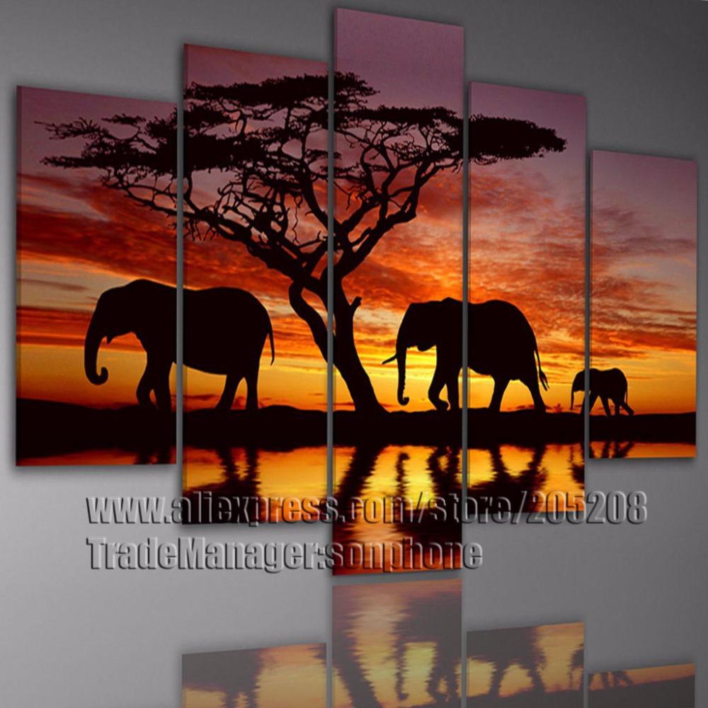 3 piece african wall art for African wall art