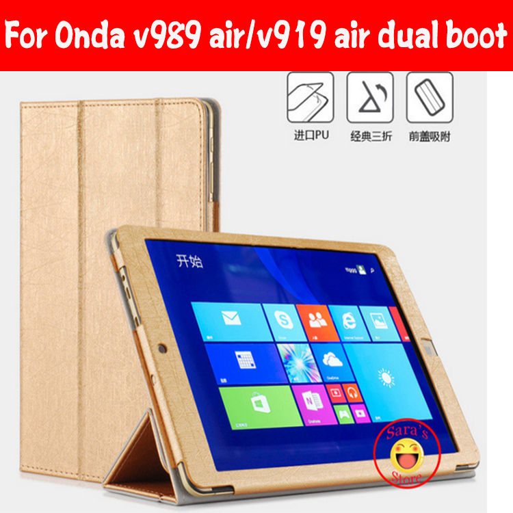 Protective Cover for Onda V919 Air CH V989 Air octa Tablet PC , For Onda V919 3G Air Dual Boot Case With 4 Gifts(China (Mainland))