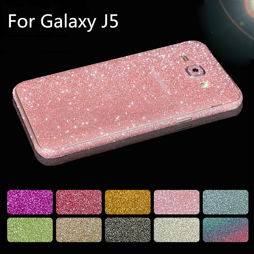 Bling Sticker Coque For Samsung Galaxy J5 2015 J500 J5 2016 J510 Mobile Phone Cases Full Body Decal Skin Glitter Cover Funda(China (Mainland))