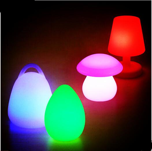 Фотография Creative personality lamp, Nordic living room study, restaurant, bar, color gradient, cartoon, LED, desk lamp.