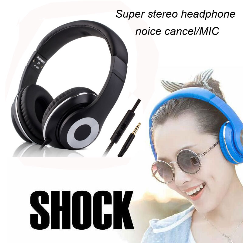 Active Noise Cancelling Headphones High Performance Monitor Stereo Headphone Headset With Mic For for iPhone Samsung HTC Xiaomi