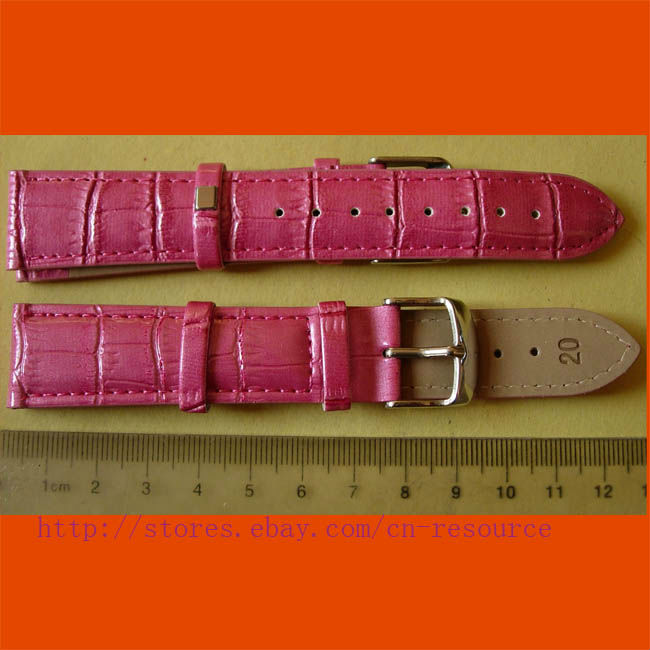 1 x 20 mm GENUINE COW LEATHER watch band rose 05