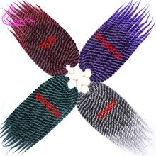 "Biggest Discount 16 Colors Havana Twist Crochet Hair Extensions 12"" 12Root/Pack Crochet Twist Hair 75G/Pack Box Braids Hair(China (Mainland))"