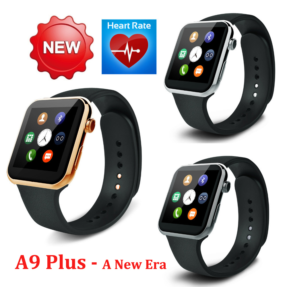 A9 Plus New Bluetooth Smart watch for Apple iPhone & Samsung Android Phone relogio inteligente reloj smartphone watch(China (Mainland))