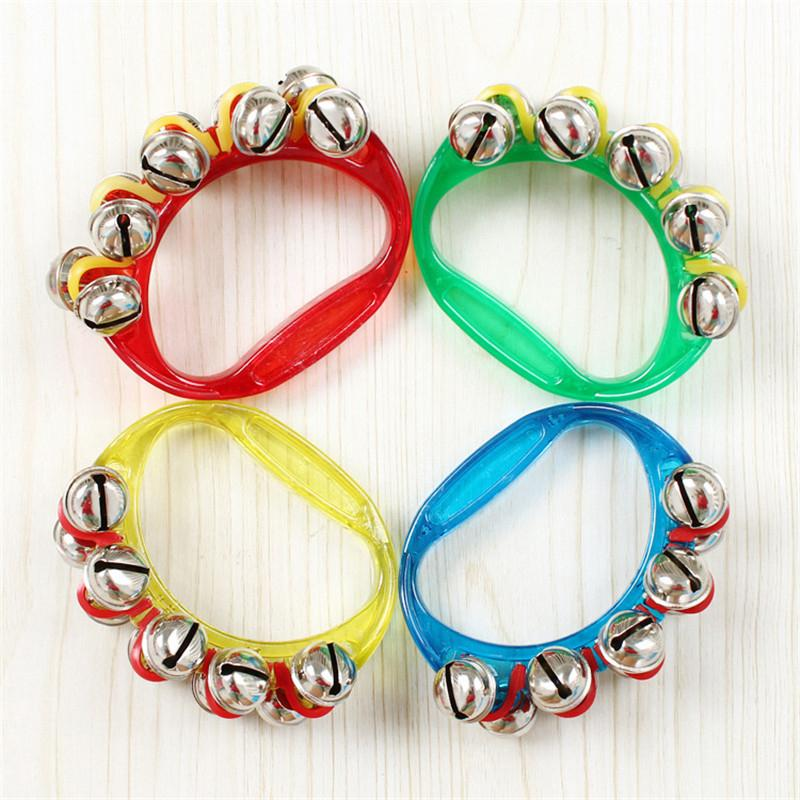 1PCS Girl Boy Baby plastic Hold the bell Rattle Jingle Bell Tambourine Ring Shake Kid hot toy(China (Mainland))