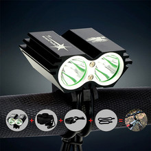 Buy Waterproof 5000 Lumen 2X XM-L U2 LED Cycling Bicycle Front Light Bike Flash Light Bicycle Head Light Lamp +Battery Pack+Charger for $24.28 in AliExpress store