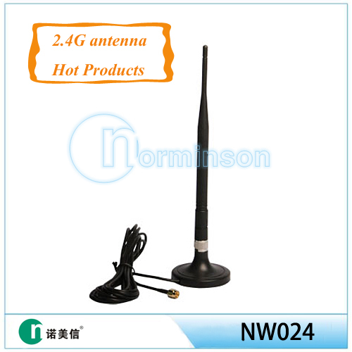 [Manufactory]2.4 ghz antenna sma connector,2.4G wifi antenna 3DB(China (Mainland))