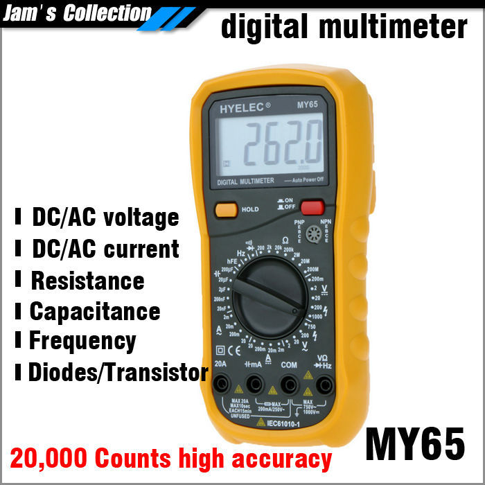 Free shipping better than VC99 HYELEC Mastech MY65 multimeter professional 20000 counts high accuracy with all set of accessory<br><br>Aliexpress