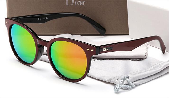 2015 new fashion sunglasses diorss 3165 brown frame orange lens(China (Mainland))