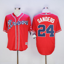 Mens Atlanta Braves Baseball Jerseys #24 Deion Sanders Stitched Home Road Alternate Top Quality(China (Mainland))