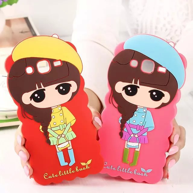 For Samsung galaxy Grand dous i9082 cases 3D Cute cartoon characters Girl xiaoxi GT i9082 soft silicone phone cover(China (Mainland))