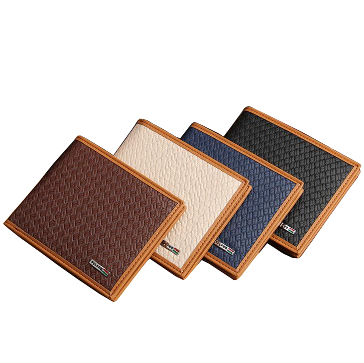 Fashion New style Men Wallets Soft Surface Knitting Pattern Casual Short 4 Colors Quality PU Leather Purse Wallet Free Shipping<br><br>Aliexpress