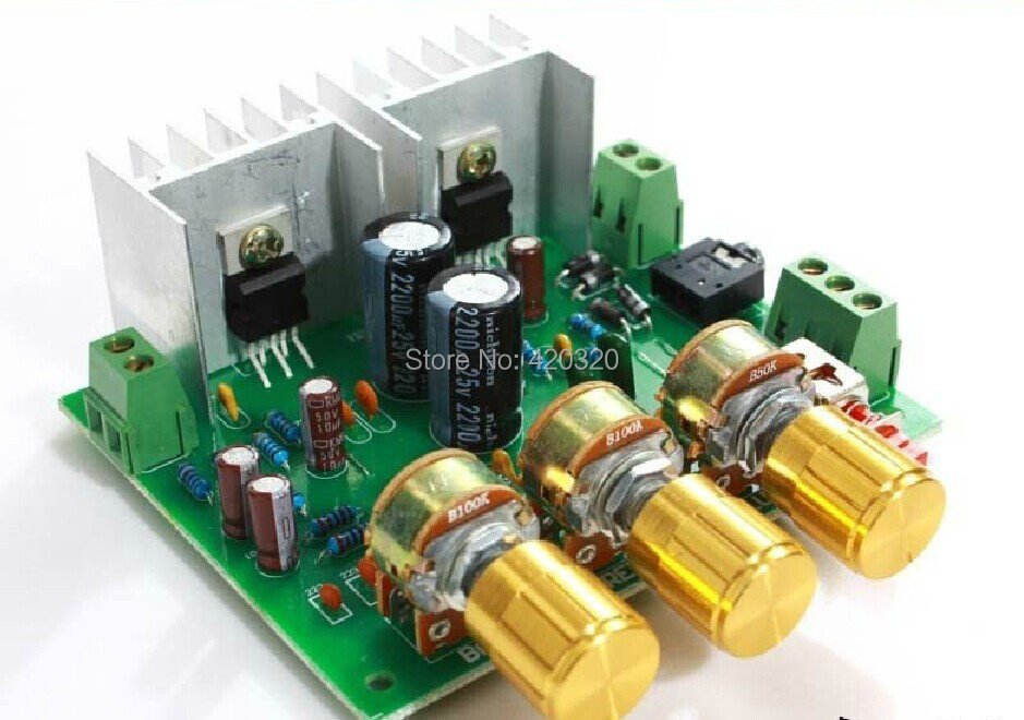Electronic 2014 new 12VAC-0-12VAC TDA2030A TDA2030 2.0 channel amplifier board kit Electronic Kits 2*15W kit diy<br><br>Aliexpress