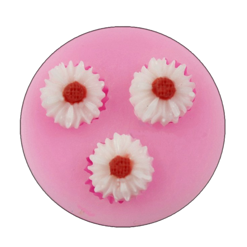Hot Mini Chrysanthemum Fondant silicone mold for cake decorating tools Chocolate Mold small Flowers from Cake Decoration(China (Mainland))