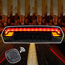 Bicycle Bike Indicator Signal LED Rear Tail Laser Light Wireless Remote USB Rechargeable(China (Mainland))