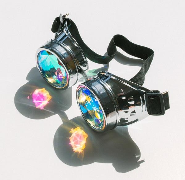 Emazing light steam punk kaleidoscope glasses(China (Mainland))