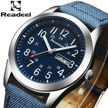 Readeel Sport Watches Men Luxury Brand Nylon Strap Men Army Military Wristwatches Clock Male Quartz Watch Relogio Masculino 2016(China (Mainland))