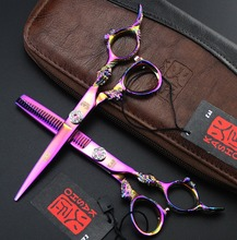 6 inch KASHO series Dragon Handle Professional Hair Scissors set ,Straight & Thinning scissors set, barber shears(China (Mainland))
