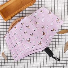 Зонт Bulldog, Карманный Зонт, синие, солнечные, дождливые, розовые зонты для женщин, три складных, свежие, вечерние, маленькие собаки, зонтик(China)