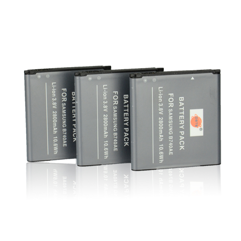 DSTE 3 Pcs 2800 mAh B740AE Rechargeable Battery For Samsung X Mini0 S4 Zoom NX MINI NX3000 SM-C101 SM-C1010 I939D