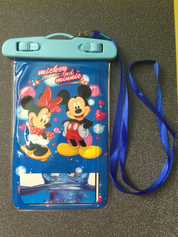 cartoon Mickey Minnie Waterproof mobile phone case For camera Bag Sleeve Holder C007(China (Mainland))